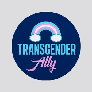 Transgender Ally Rainbow Button