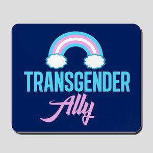Transgender Ally Rainbow Mousepad