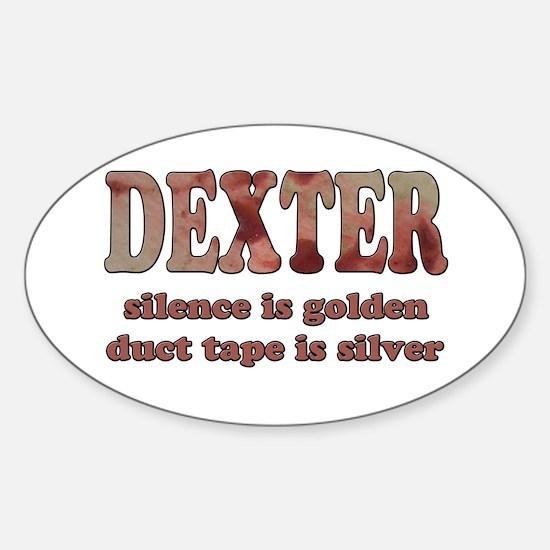 TVs Dexter Sticker (Oval)