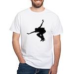 Skateboarding White T-Shirt