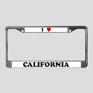 I Love California License Plate Frame
