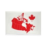 Canada Map Rectangle Magnet (10 pack)