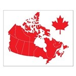 Canada Map Small Poster