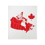 Canada Map Throw Blanket
