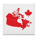 Canada Map Tile Coaster