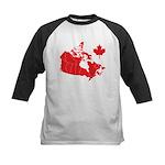 Canada Map Kids Baseball Jersey
