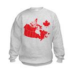 Canada Map Kids Sweatshirt