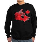 Canada Map Sweatshirt (dark)