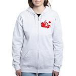 Canada Map Women's Zip Hoodie