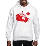 Canada Map Hooded Sweatshirt