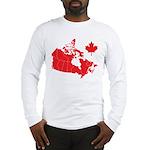 Canada Map Long Sleeve T-Shirt