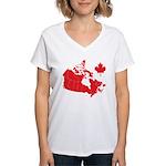 Canada Map Women's V-Neck T-Shirt