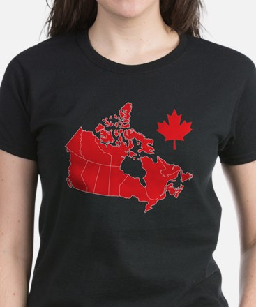 Canada Map Women's Dark T-Shirt