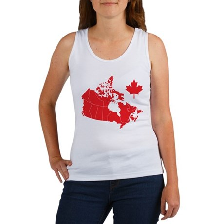 Canada Map Women's Tank Top