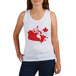 Canada Map Women's Tank Top