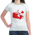 Canada Map Jr. Ringer T-Shirt