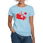 Canada Map Women's Light T-Shirt