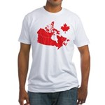 Canada Map Fitted T-Shirt