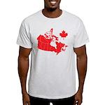 Canada Map Light T-Shirt