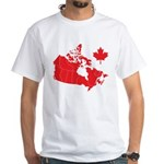 Canada Map White T-Shirt