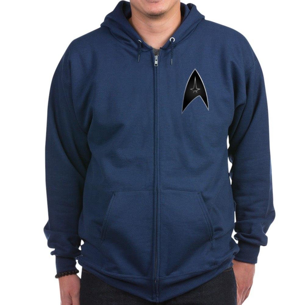 CafePress - Star Trek Logo Black Silver - Zip Hoodie | eBay