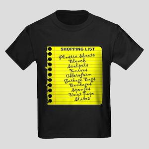Dexter's Shopping List Kids Dark T-Shirt