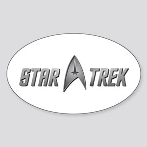Star Trek light silver Sticker (Oval)