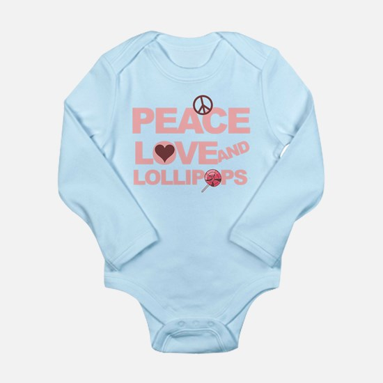 Peace love & Lollipops Long Sleeve Infant Bodysuit