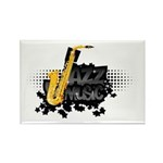 Jazz music Rectangle Magnet (10 pack)