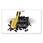 Jazz music Sticker (Rectangle 50 pk)