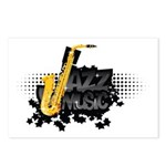Jazz music Postcards (Package of 8)