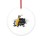 Jazz music Ornament (Round)