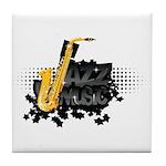 Jazz music Tile Coaster