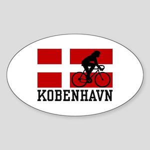 Kobenhaven Cycling Female Sticker (Oval)