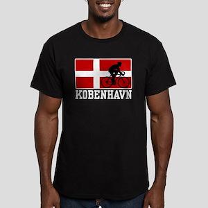 Kobenhaven Cycling Male Men's Fitted T-Shirt (dark