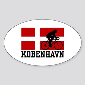 Kobenhaven Cycling Male Sticker (Oval)