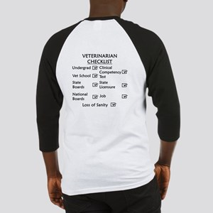 Veterinarian Checklist Baseball Jersey