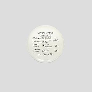 Veterinarian Checklist Mini Button