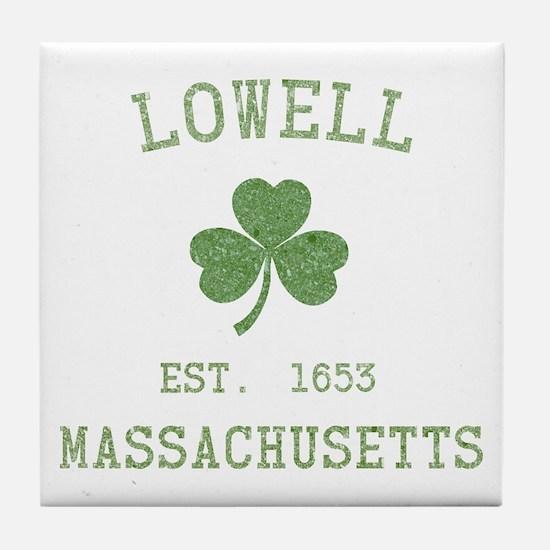 Lowell MA Tile Coaster