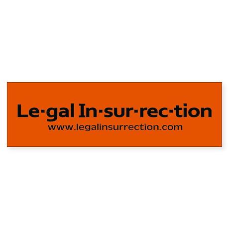Legal Insurrection Sticker Bumper Sticker