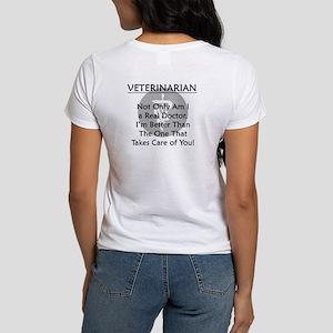 Veterinarian A Real Doctor Women's T-Shirt