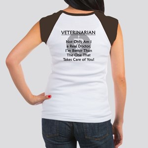Veterinarian A Real Doctor Women's Cap Sleeve T-Sh