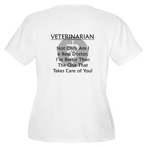 Veterinarian A Real Doctor Women's Plus Size Scoop