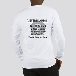 Veterinarian A Real Doctor Long Sleeve T-Shirt