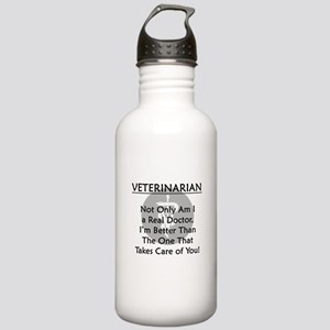 Veterinarian A Real Doctor Stainless Water Bottle