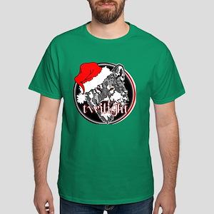 Twilight Christmas Wolf by Twibaby Dark T-Shirt