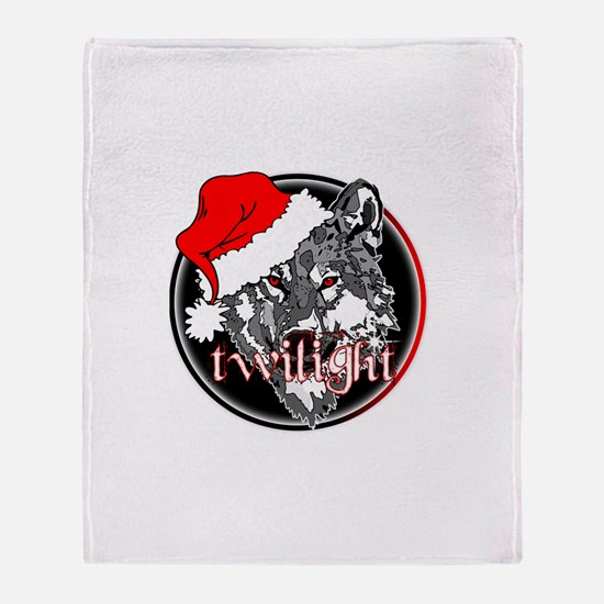 Twilight Christmas Wolf by Twibaby Throw Blanket