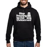 Anti fracking Dark Hoodies