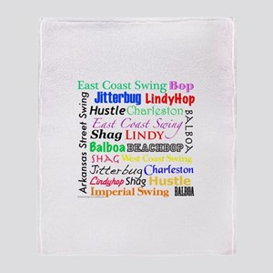 All Swing Dances Throw Blanket