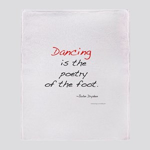 Dryden on Dance Throw Blanket